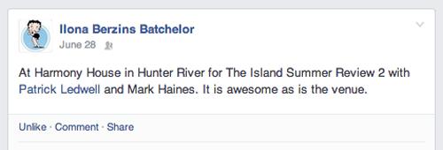 Facebook: Island Summer Review 2 Ilona Batchelor